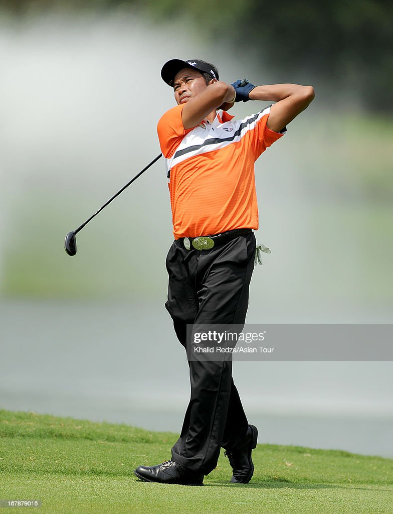 Thaworn Wiratchant of Thailand plays a shot during round one of the Indonesian Masters at Royale Jakarta Golf Club on May 2, 2013 in Jakarta, Indonesia.
