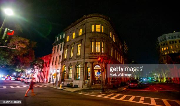 The 1 Broad Street bar hosts a hurricane party in a deserted downtown on September 13 2018 in Charleston South Carolina United States The owner...