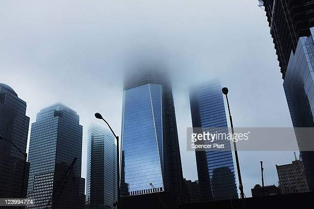 The 1 World Trade Center stands as construction continues at the World Trade Center site on September 7, 2011 in New York City. New York City and the...