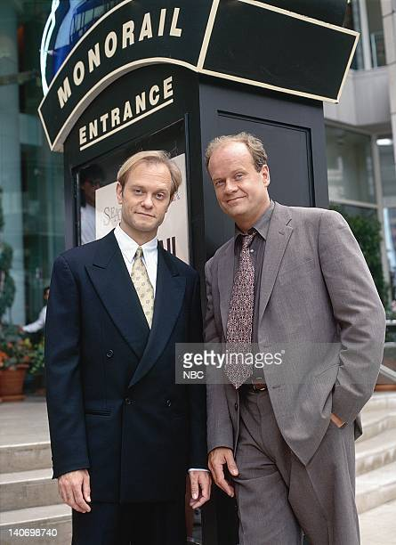 FRASIER The 1000th Show Episode 5 Pictured David Hyde Pierce as Dr Niles Crane Kelsey Grammer as Dr Frasier Crane Photo by Alice S Hall/NBCU Photo...