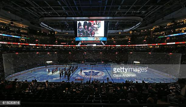 The 100th anniversary ceremonies of the Toronto Maple Leafs to open the season prior to play against the Boston Bruins in an NHL game on October 15...