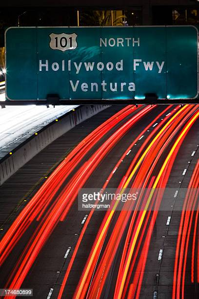 The 101 Freeway in Downtown Los Angeles