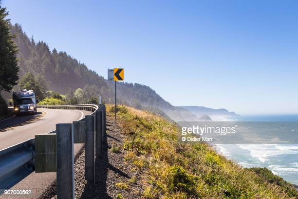 the 101 road along the stunning Pacific Ocean coast in Oregon, USA