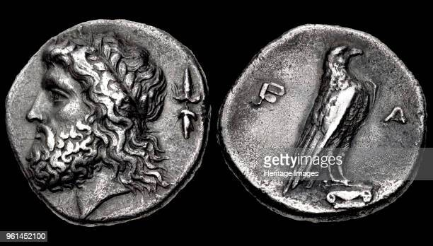 Head of Zeus Reverse Eagle Elis Olympia 352 BC Private Collection