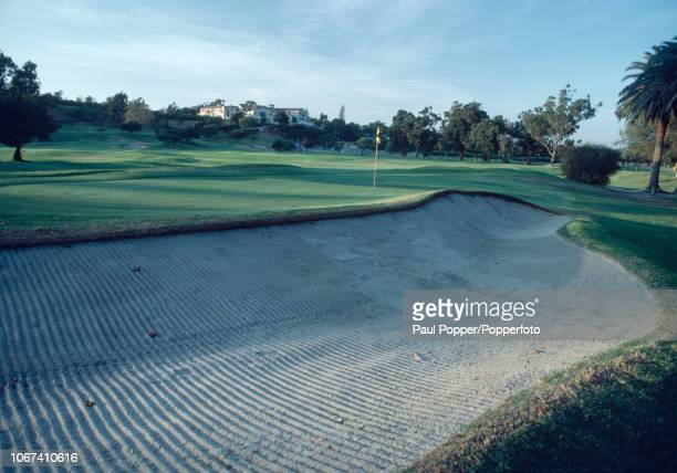 The 10th hole and Club House of the Riviera Country Club in Pacific Palisades, California, circa October 1981. (Photo by Brian Morgan/Popperfoto via...