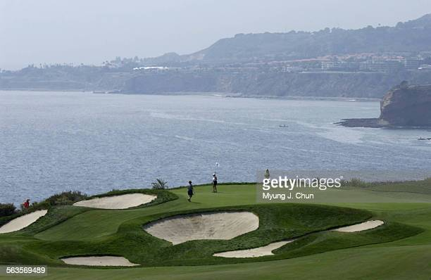The 10th hole at Ocean Trails Golf Course in Rancho Palos Verdes offers a breathtaking view of the Pacific Ocean. The course was bought by Donald...