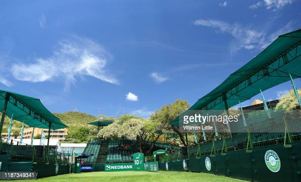 The 10th tee is pictured ahead of the Nedbank Golf Challenge hosted by Gary Player at the Gary Player CC on November 13 2019 in Sun City South Africa