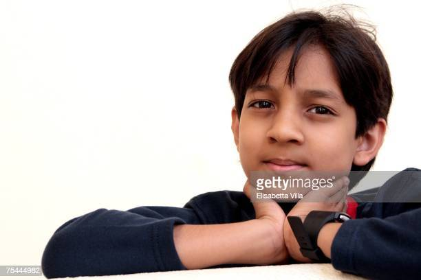 The 10yearold Indian actor/director Kishan Shrikanth presumed to be the youngest director in the world attends the Giffoni Film Festival on July 17...