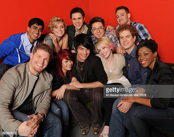 ACCESS*** The 11 final contestants Anoop Desai Megan Joy Corkrey Kris Allen Danny Gokey Matt Giraud Michael Sarver Allison Iraheta Adam Lambert...
