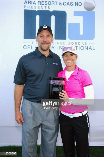 The 11th Annual Michael Jordan Celebrity Invitational winning team of former Major League Baseball player John Smoltz and soccer player and...