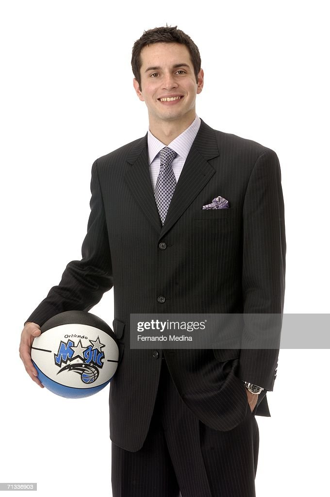 The 11th overall pick by the Orlando Magic in the 2006 NBA Draft, J.J. Redick, poses for a portrait June 29, 2006 at the RDV Sportsplex in Maitland, Florida.