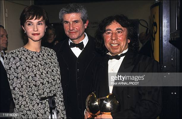 The 11th win of music in France in February 1996 Claude Lelouch Alessandra Martinez Francis Lai
