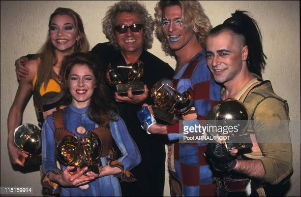 The 11th win of music in France in February 1996 Plamandon Luke and the team of Starmania
