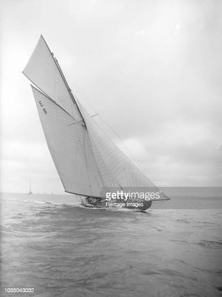 The 12 Metre sailing yacht 'Rollo' racing upwind 1911 Johan Anker the designer of Rollo helmed the yacht for the 1911 Coronation Regatta in the...