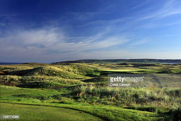 The 121 yards par 3 4th hole 'Jura' at The Machrihanish Golf Club on August 31 2010 in Machrihanish Scotland