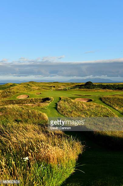 The 123 yards par 3 8th hole 'Postage Stamp' on the Old Course at Royal Troon the venue for the 2016 Open Championship on July 30 2015 in Troon...