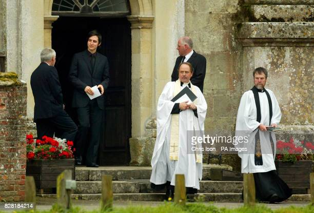 The 12th Earl of Shaftesbury Nicholas AshleyCooper leaves the funeral of his father Anthony the 10th Earl of Shaftesbury in Wimborne St Giles Dorset...