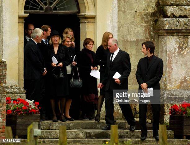 The 12th Earl of Shaftesbury Nicholas AshleyCooper looks back at his mother Lady Shaftesbury after the funeral of his father Anthony the 10th Earl of...