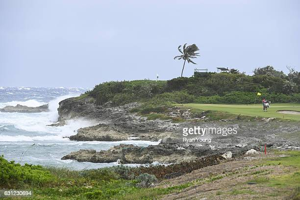 The 12th green is seen during the first round of The Bahamas Great Exuma Classic at Sandals Emerald Reef Course on January 8 2017 in Great Exuma...