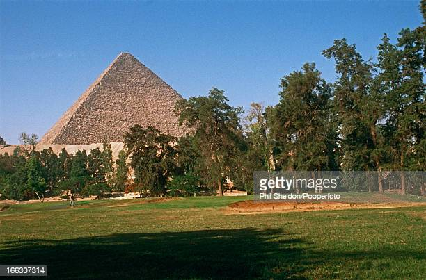 The 12th hole at the Mena House golf course at Giza near Cairo in Egypt with the Cheops Pyramid in the background 30th October 2001