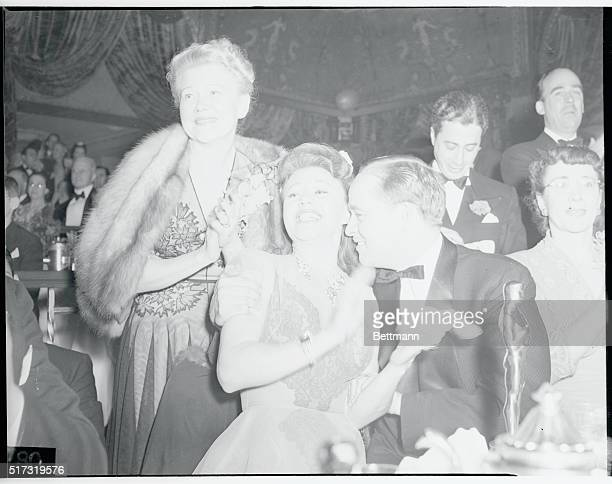 The 13th Annual Awards Dinner of the Academy of Motion Picture Arts and Sciences at the Biltmore Hotel Mrs Lela Rogers Ginger Rogers and David...