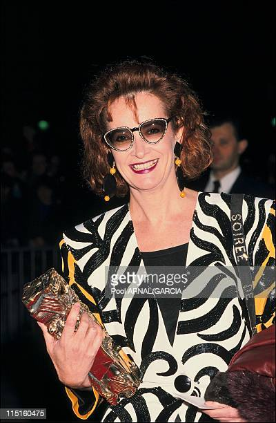 The 13th Cesar Awards ceremony in Paris France on March 12 1988 Dominique Lavanant Cesar Award for Best Supporting Actress in Agent trouble of...