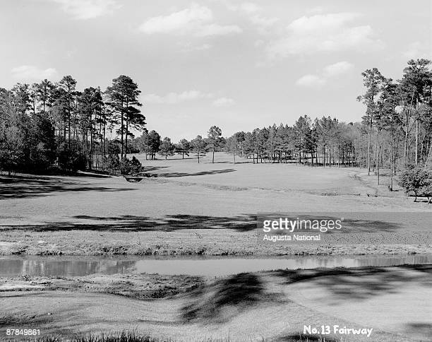 The 13th fairway during the 1948 Masters Tournament at Augusta National Golf Club in April 1948 in Augusta Georgia