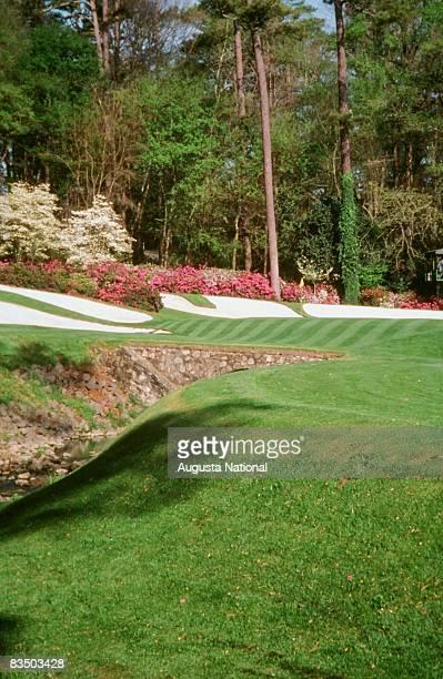 The 13th hole at Augusta National Golf Club in Augusta Georgia