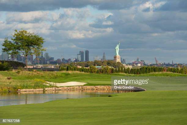 The 13th hole at Liberty National Golf Club host course of the 2017 Presidents Cup in Jersey City New Jersey on Ocotber 3 2016