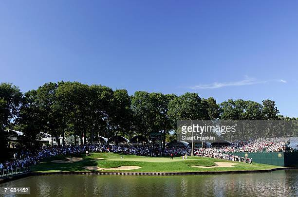 The 13th hole is seen during the final round of the 2006 PGA Championship at Medinah Country Club on August 20 2006 in Medinah Illinois