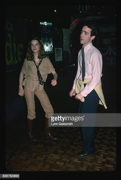 The 13-year-old actress Brooke Shields dances with a friend at Studio 54 in 1978, the year she starred in Louis Malle's Pretty Baby as a child...