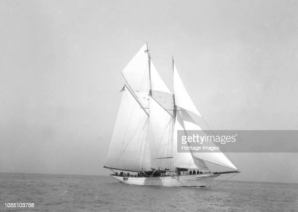The 140 ft schooner 'Heartsease' under sail 'Heartsease' was built by JG Fay Co and later renamed to 'Adela' Artist Kirk Sons of Cowes