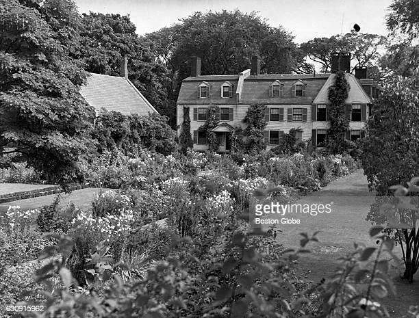 The 143yearold garden of Abigail Adams behind Old House at Peace field in Quincy Mass on Oct 8 1935 The residence of two Presidents of the United...