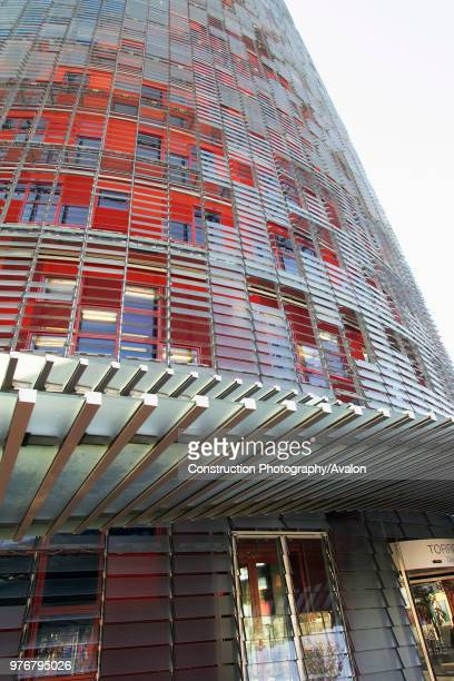 The 144 meters Torre Agbar tower in Barcelona Spain designed by French architect Jean Nouvel 2004 Main contractor Dragados Developer Layetana The...