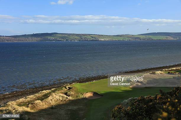 The 144 yards par 3 11th hole at the Castle Stuart Golf Links which was designed by Mark Parsinen and Gil Hanse on May 5 2016 in Inverness Nairnshire...