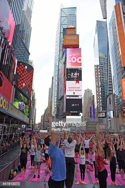 The 14th annual Solstice in Times Square Mind Over Madness Yoga marked 2016's longest day with nearly a dozen free yoga lessons attended by thousands...