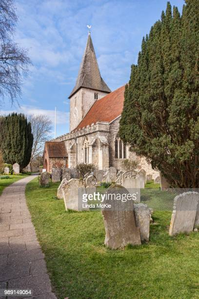 The 14th Century Holy Trinity Church, at Bosham, West Sussex, England, United Kingdom