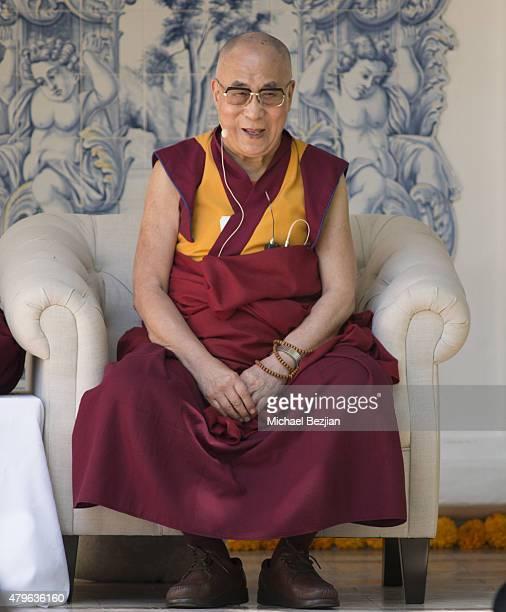 The 14th Dalai Lama attends Peak Mind Foundation Hosts A Talk With His Holiness The 14th Dalai Lama at Rancho Las Lomas on July 4, 2015 in Silverado...