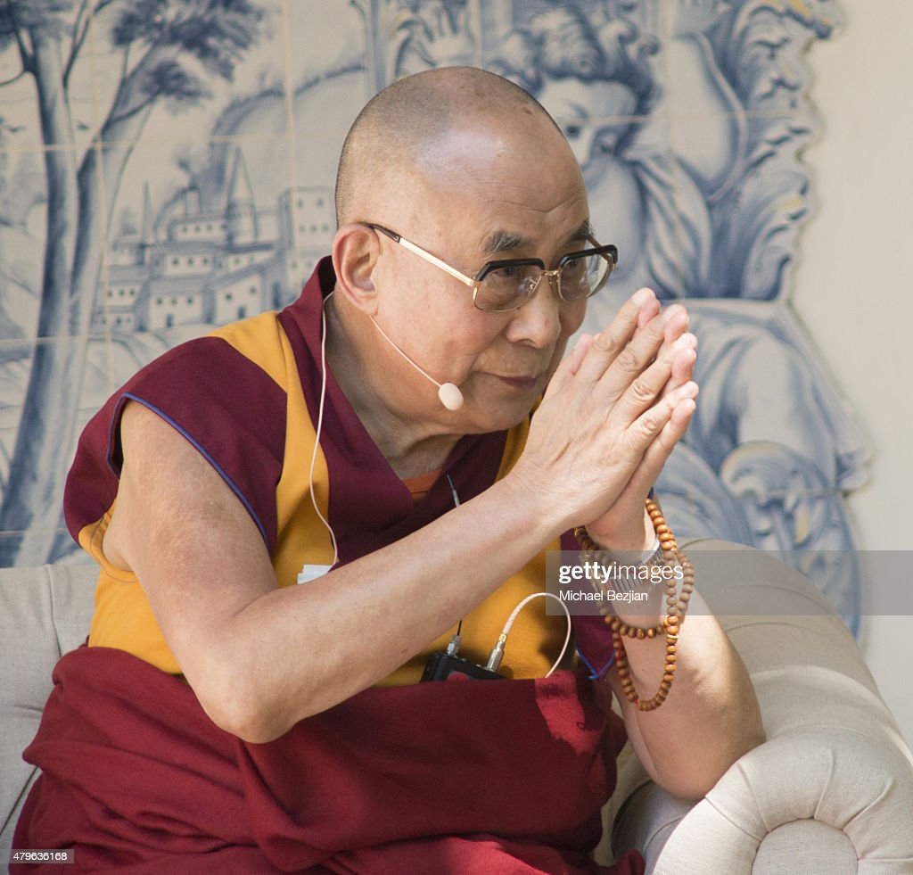 The 14th Dalai Lama attends Peak Mind Foundation Hosts A Talk With His Holiness The 14th Dalai Lama at Rancho Las Lomas on July 4, 2015 in Silverado Canyon, California.