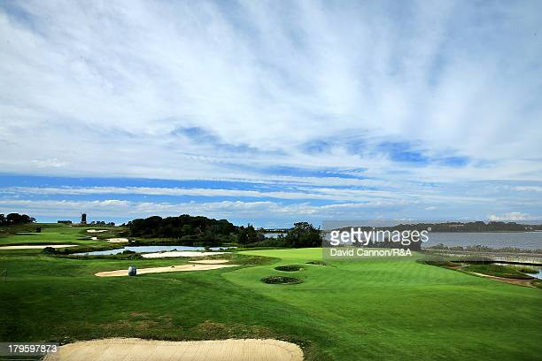 The 14th green at the National Golf Links as a preview for the 2013 Walker Cup Match at National Golf Links of America on September 5 2013 in...
