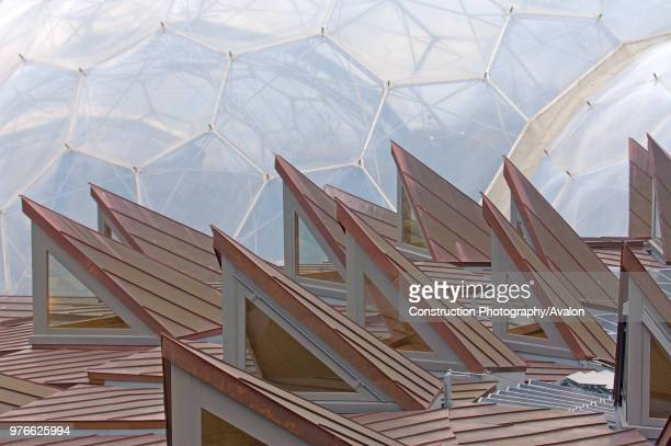 The ú15 million education centre The Core is the new addition of the Eden Project St Austell Cornwall England UK The design is based on the...