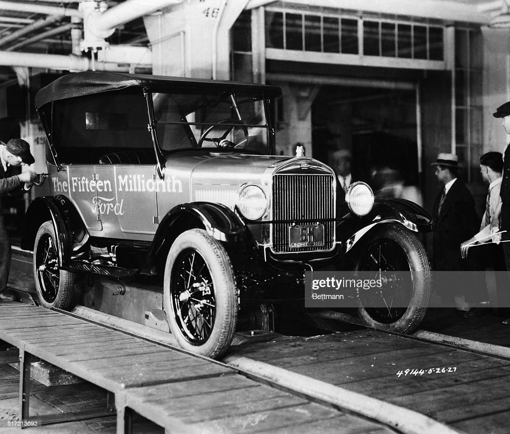 Ford Model T Coming Off Assembly Line Pictures | Getty Images