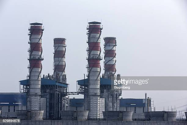The 1500 Megawatt Combined Cycle Power Station Bawana operated by Pragati Power Corp stands in Bawana Delhi India on Tuesday May 3 2016 About 25...