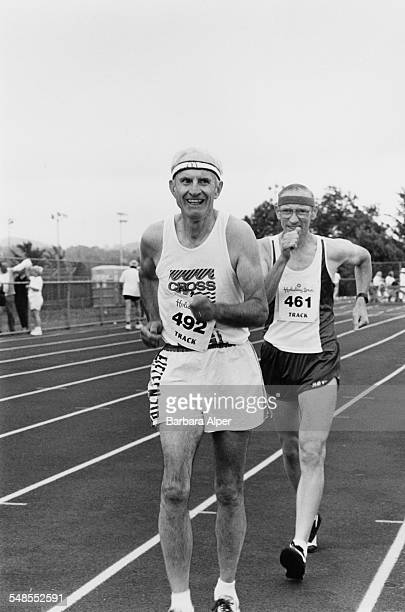 The 1,500 metres Race Walk at the National Senior Sports Classic in Syracuse, New York State, USA, 30th June 1991.