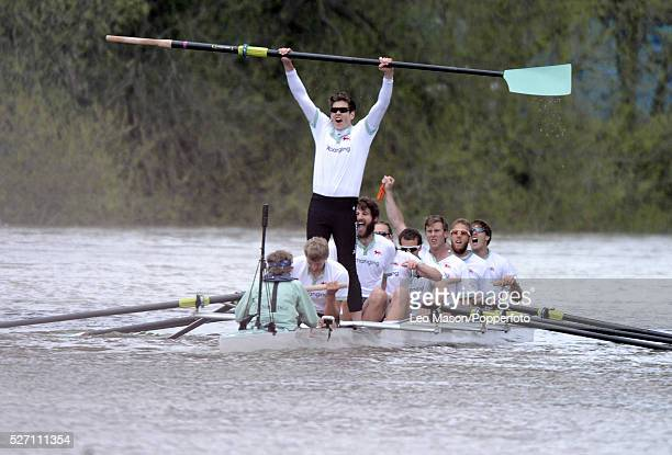 The 158th Xchanging University Boat Race Oxford Vs Cambridge Putney to Mortlake River Thames London UK Cambridge win the restart by 10 lengths