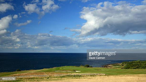 The 15th green on the Kittocks Course at The Fairmont St Andrews Bay Golf Resort on July 30 2014 in St Andrews Scotland