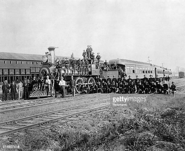 The 15th United States Infantry Company C called in by President Cleveland to help break up a railroad strike against the Pullman Palace Car Company...