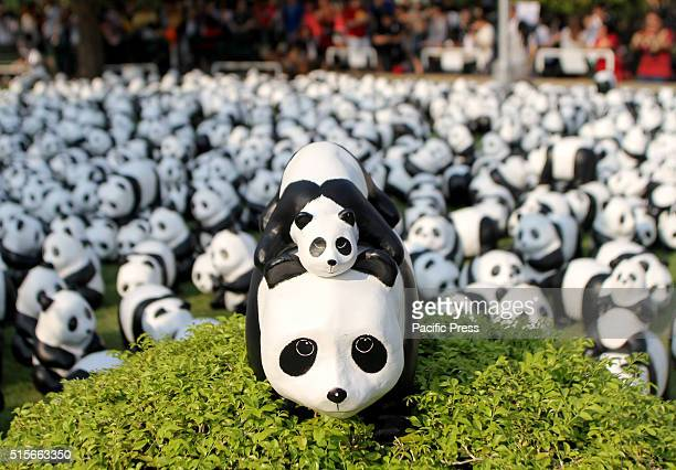 The 1600 Pandas exhibition by French artist Paulo Grangeon displayed at Santi Chai Prakarn park in Bangkok These are flown around the world to spread...