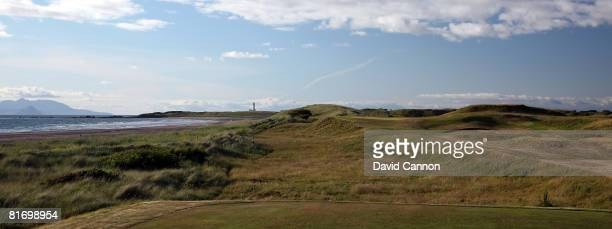 The 168 yds par 3 4th hole on the Ailsa Course at the Westin Turnberry Resort the venue for the 2009 Open Championship on June 14 2008 in Turnberry...