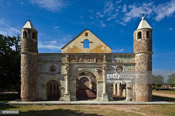 The 16Th Century Convent And Basilica Of Cuilapan Was The Former Monastery Of Santiago Apostol Cuilapan De Guerrero Mexico Near Oaxaca